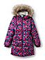 Girls' Patterned Thermoplume Fleece Lined Coat