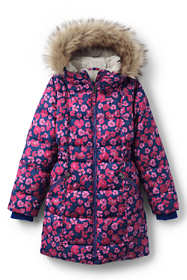 Little Girls Winter Fleece Lined Down Alternative ThermoPlume Coat
