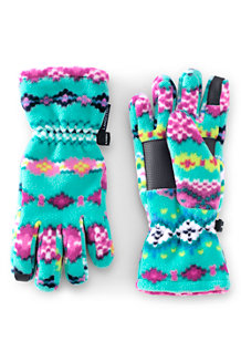 Kids' Patterned Fleece Gloves
