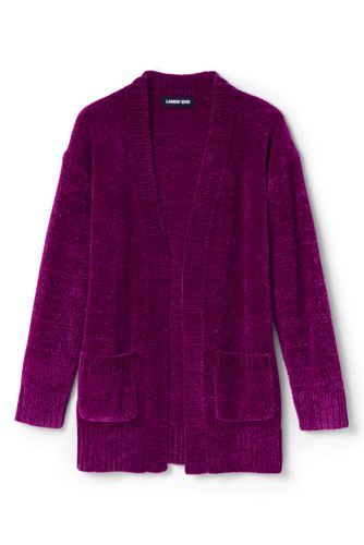 Little Girls' Long Chenille Cardigan