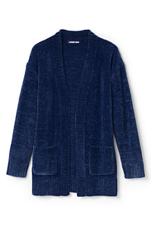 Girls' Long Chenille Cardigan
