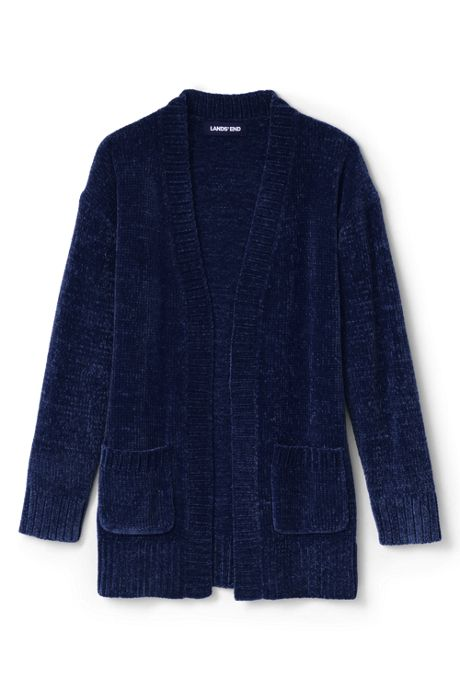 Little Girls Chenille Open Cardigan Sweater