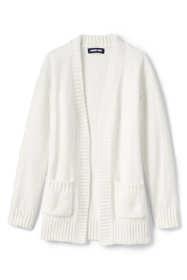 Girls Chenille Open Cardigan Sweater
