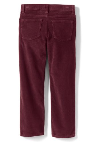 School Uniform Boys Slim Stretch 5 Pocket Corduroy Pants