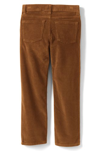 School Uniform Little Boys Slim Stretch 5 Pocket Corduroy Pants