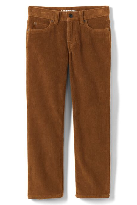 School Uniform Boys Husky Stretch 5 Pocket Corduroy Pants