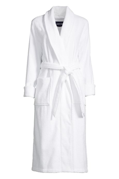 Women's Plus Size Cotton Terry Long Bath Robe