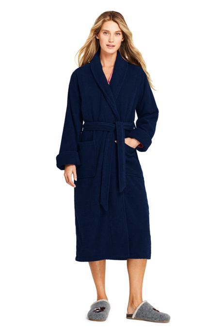 Women's Cotton Terry Long Bath Robe