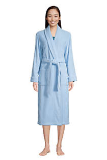 Women's Cotton Terry Long Spa Bath Robe, Front