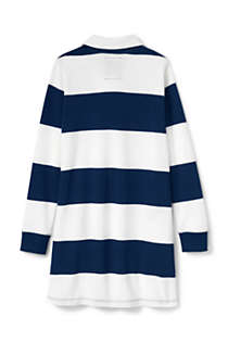 Girls Plus Size Rugby Shirt Dress, Back