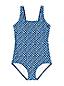 Maillot 1 Pièce Tugless Imprimé Bonnet F, Femme Stature Standard