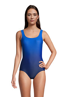 Women's Chlorine Resistant Tugless Swimsuit, Print - D Cup