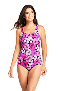Women's Mastectomy Chlorine Resistant Tugless One Piece Swimsuit Soft Cup, Front
