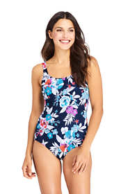 Women's D-Cup Chlorine Resistant Tugless One Piece Swimsuit Soft Cup