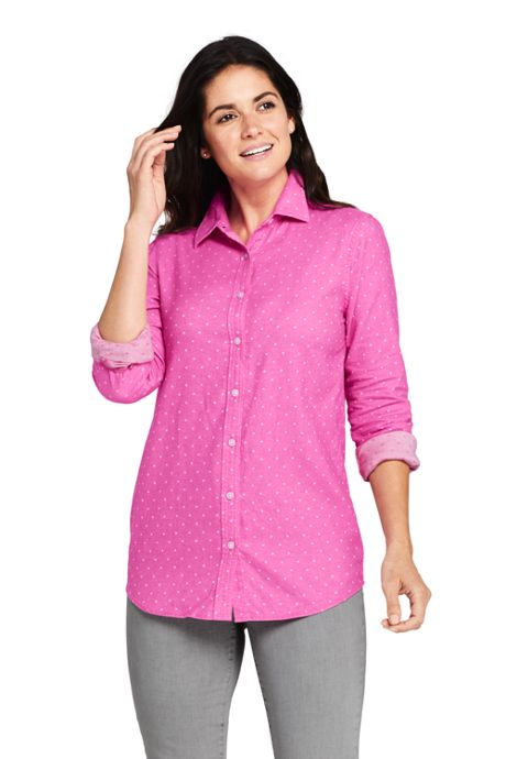 Women's Petite Cotton Flannel Shirt