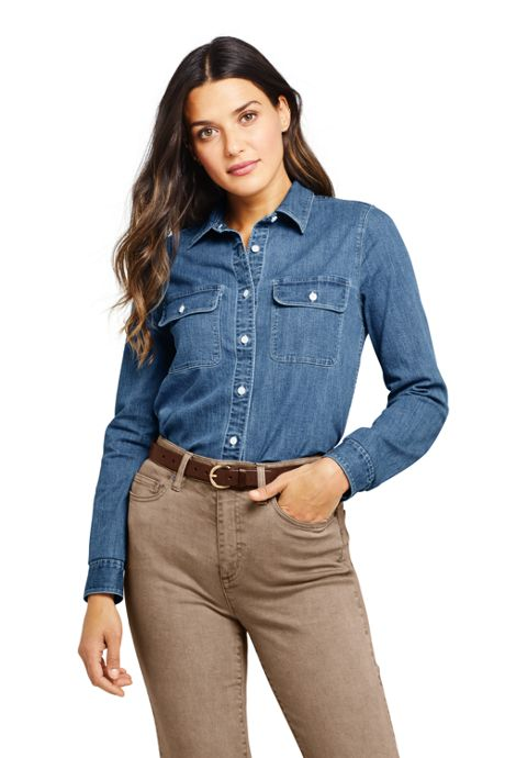 Women's Tall Denim Shirt