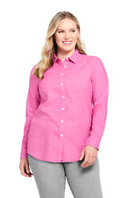 Women's Plus Size Cotton Flannel Shirt
