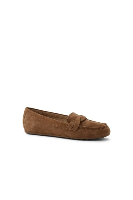 Women's Comfort Suede Leather Slip On Loafer Shoes