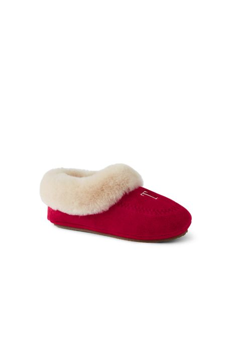 Women's Suede Leather Shearling Fur House Slippers