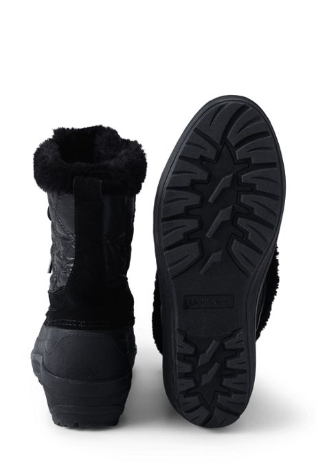 School Uniform Women's Nylon Lace Up Insulated Winter Snow Boots