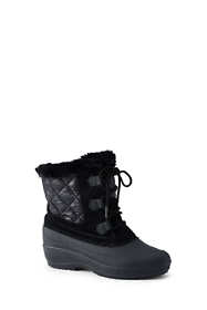 Women's Nylon Lace Up Insulated Winter Snow Boots