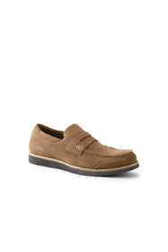 School Uniform Men's Wide Comfort Casual Suede Penny Loafers