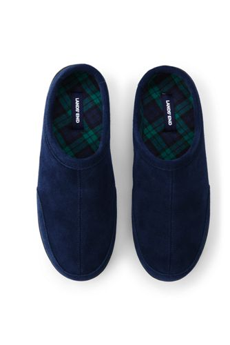 Men's Suede Slippers with Flannel Lining