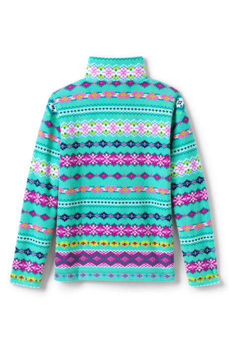 Big Kids Fleece Half Zip Sweater