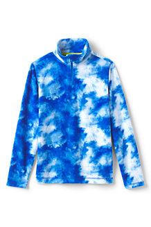 Kids' Patterned Half Zip Fleece Top