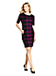 Women's Petite Jacquard Check Ponte Shift Dress