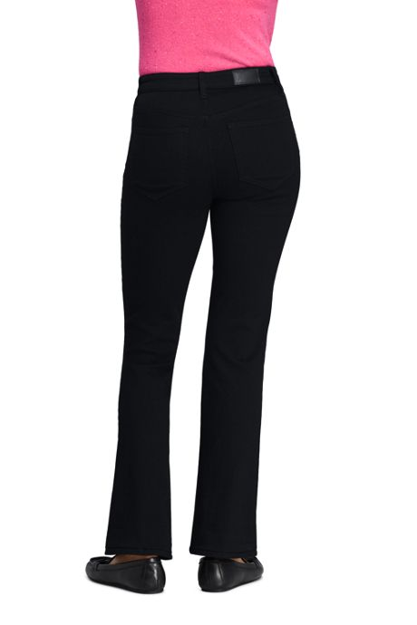 Women's Mid Rise Boot Cut Jeans - Black