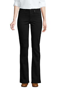 Women's Petite Mid Rise Bootcut Jeans - Black, alternative image