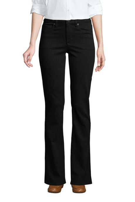 Women's Tall Mid Rise Bootcut Jeans - Black