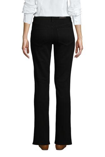 Women's Petite Mid Rise Bootcut Jeans - Black