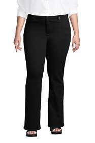 Women's Plus Size Mid Rise Bootcut Jeans - Black