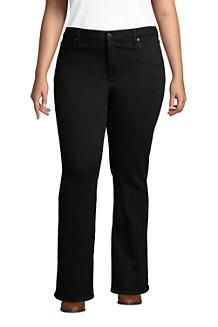 Women's Mid Rise Bootcut Jeans - Black