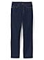 Jean Curvy Droit Taille Mi-Haute Indigo, Femme Stature Standard