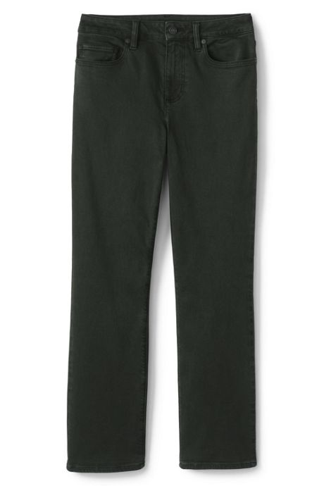 Women's Tall Curvy Mid Rise Straight Leg Jeans - Color