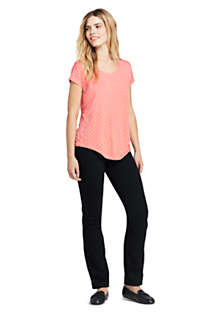 Women's Tall Curvy Mid Rise Straight Leg Jeans - Black , alternative image