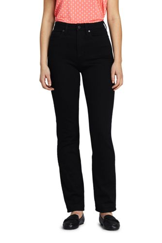 Women's Curvy Straight Leg Black Jeans