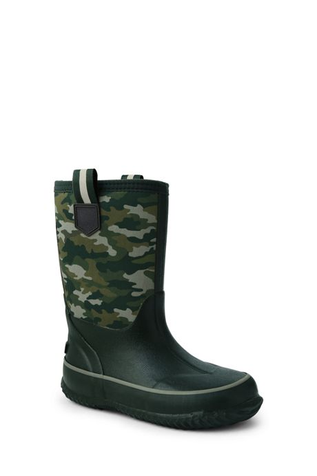 School Uniform Kids Insulated Waterproof Rain Boots