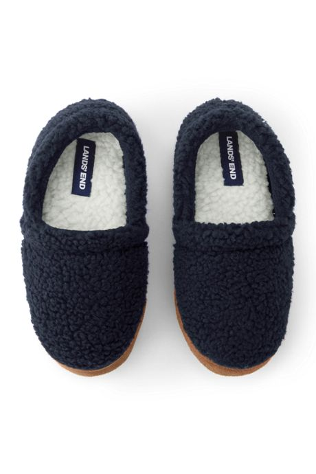 Kids Sherpa Fleece Slip On House Slippers
