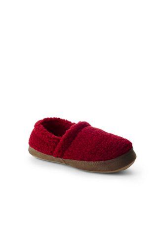 Kids Sherpa Fleece Slip On House Slippers