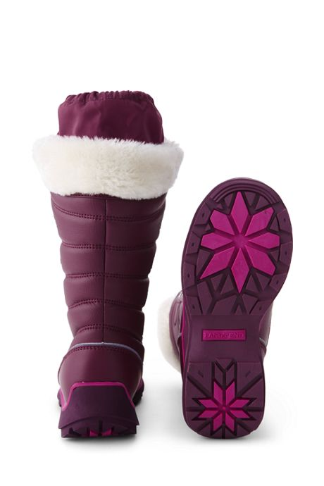 Girls Snowflake Insulated Winter Snow Boots