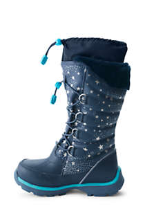 Girls Snowflake Insulated Winter Snow Boots, Unknown