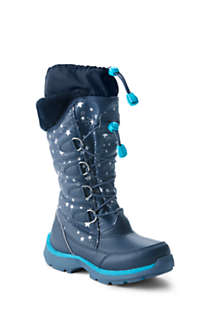 Girls Snowflake Insulated Winter Snow Boots, Front