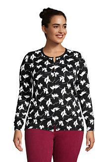 Women's Petite Supima Print Long Sleeve Cardigan