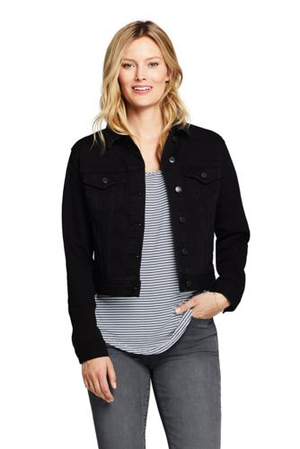 Women's Washed Charcoal Denim Jacket