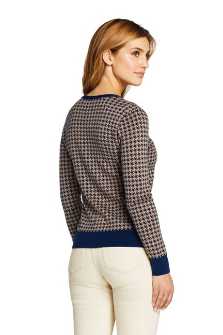 Women's Petite Supima Cotton Cardigan Pattern Sweater
