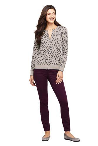 Women's Petite Supima Cotton Cardigan Sweater - Print